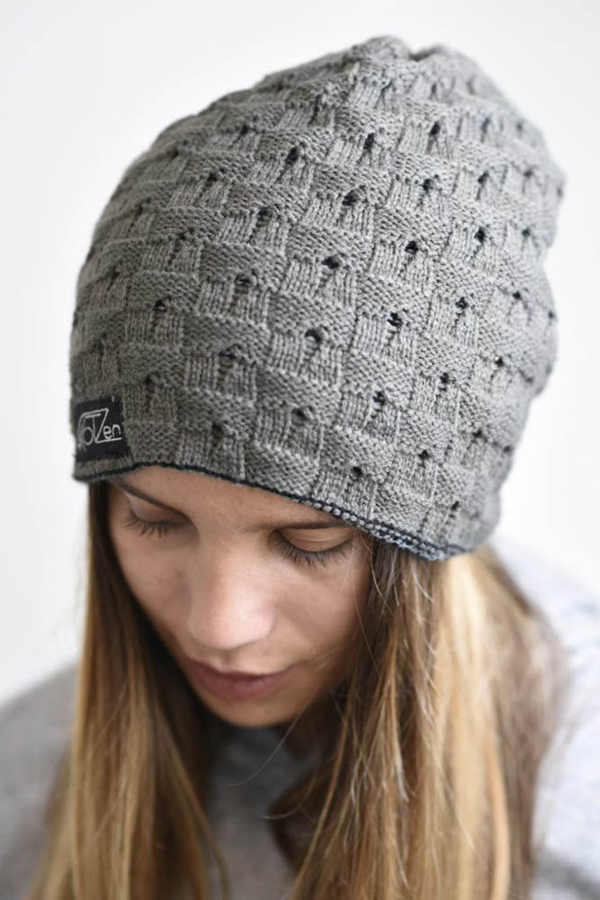 Bonnet long gris