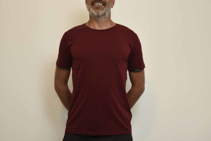 T-shirt col rond rouge homme