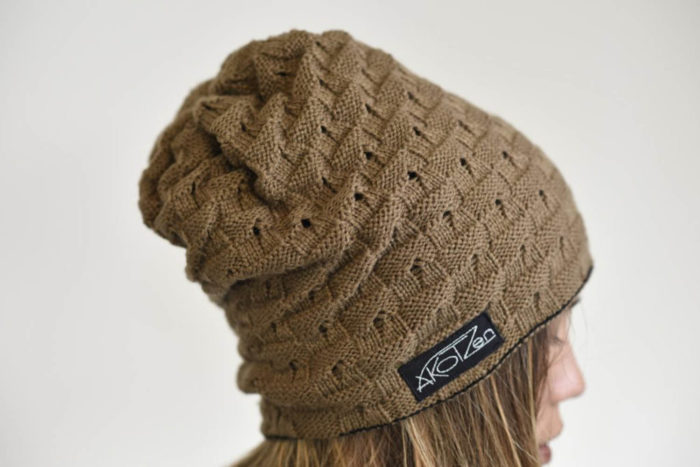 bonnet long beige