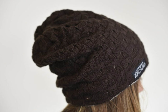 bonnet long marron