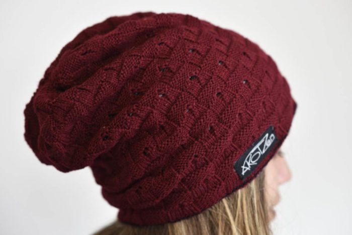 Bonnet long rouge