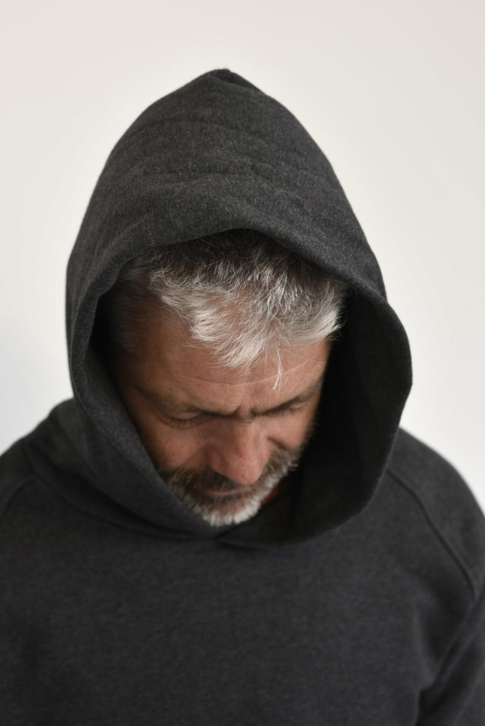 hoodie anthracite homme