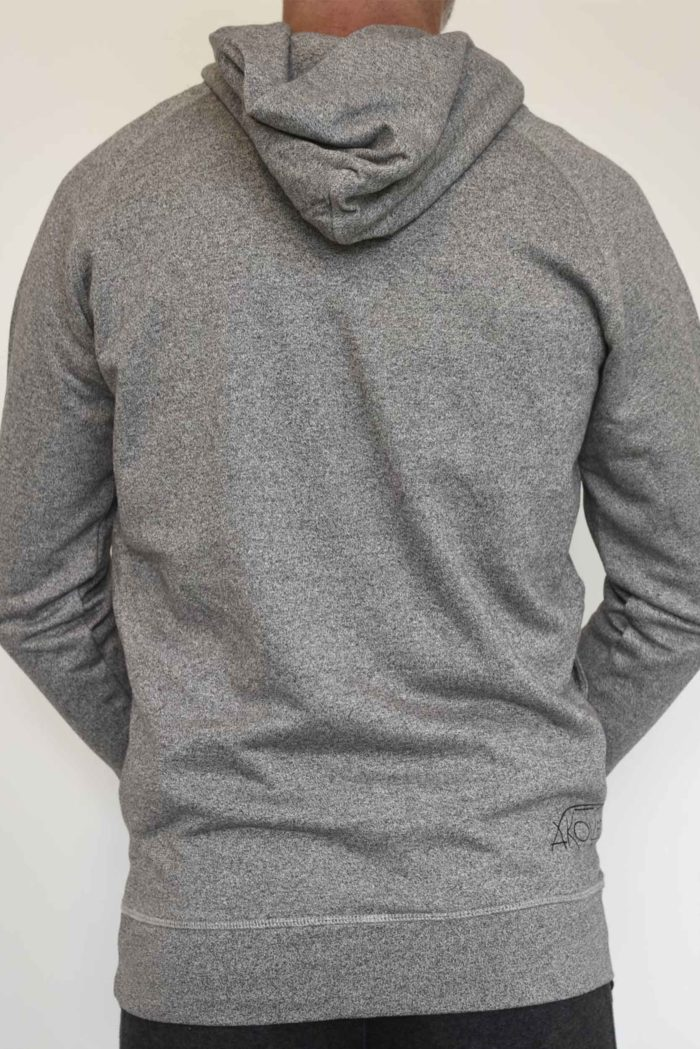hoodie gris pour homme