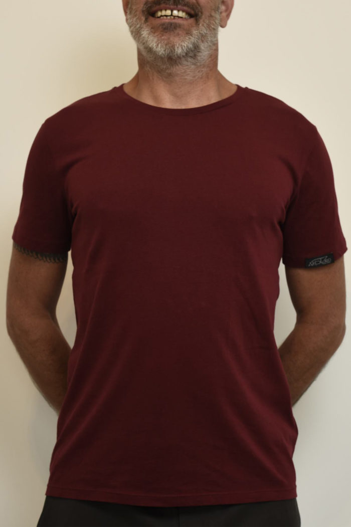 t shirt rouge homme