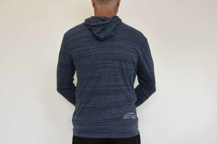 sweat zip capuche bleu