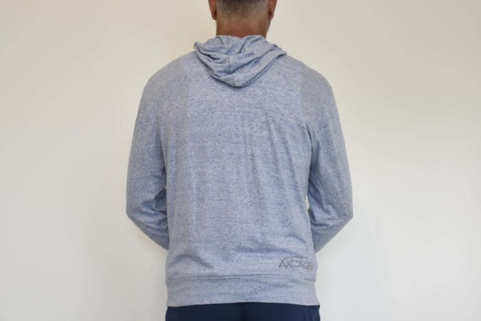 sweat zip capuche bleu ciel