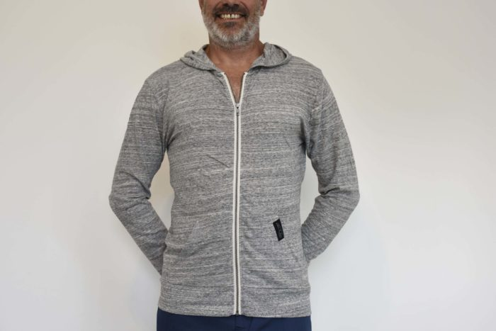 sweat zip capuche gris
