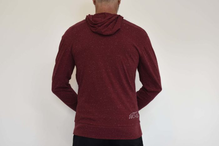sweat zip capuche rouge