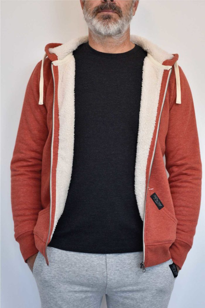 pull polaire homme