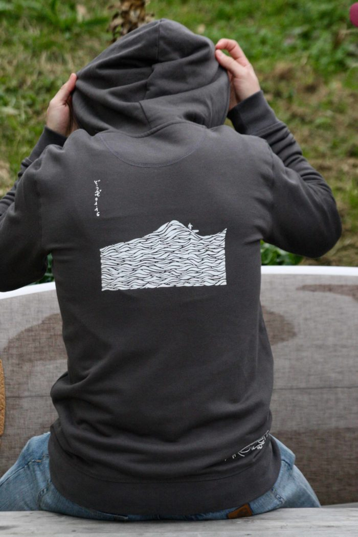 Sweat capuche zip gris