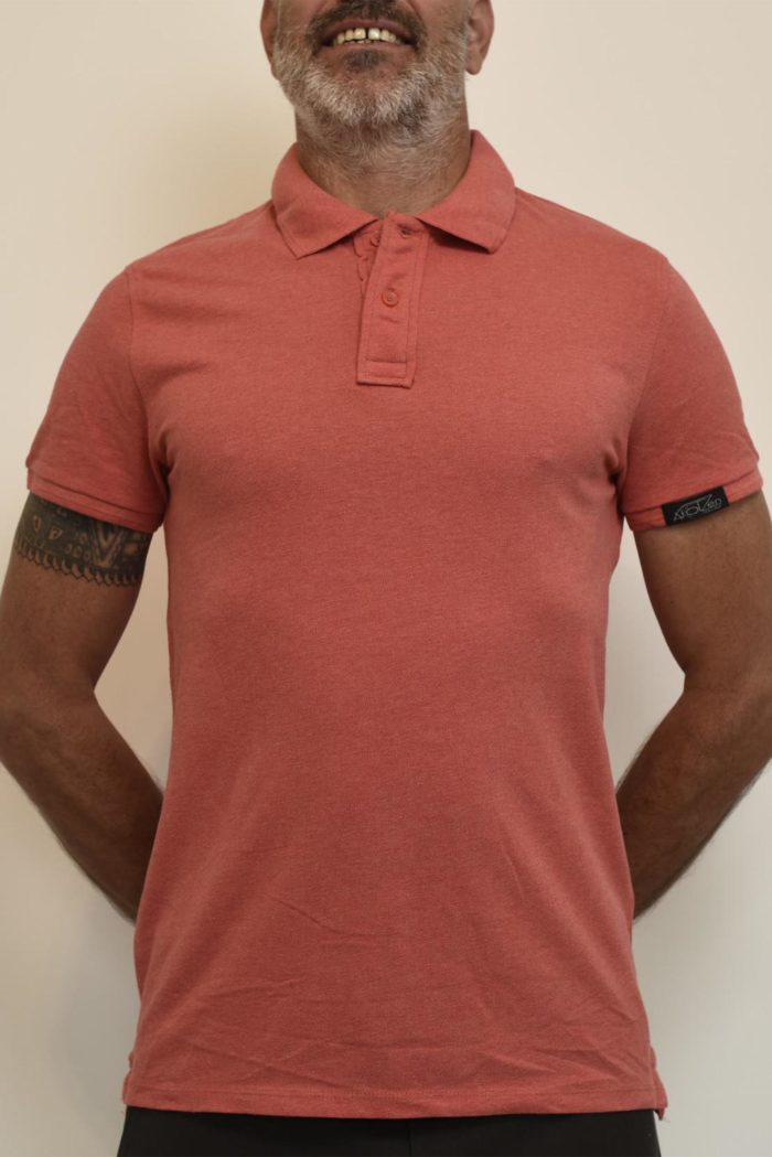 polo rose homme