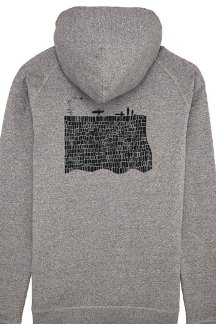 pull gris femme